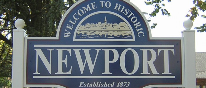 Newport welcome sign